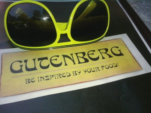 New favorite place to drink and dine downtown, Cafe Gutenburg.