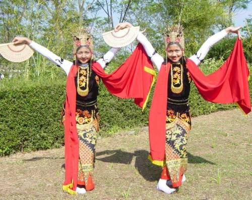 Jejer Gandrung Dance from Banyuwangi, East Java. Culture of Indonesian.