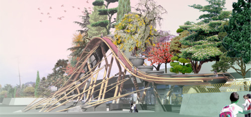 Botanic Bridge for Gwagju, South Korea by west8 via Veg.itecture: Botanic Bridge