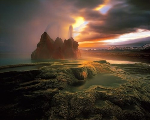 landscapelifescape:  Fly Ranch geyser in Black Rock Dessert, Nevada, USA via www.thedctraveler.com