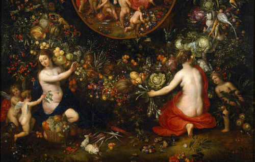 Hendrik van Balen Cybele and the Seasons in a Garland of Fruit (detail) Before 1618