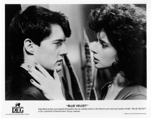 A promotional still for David Lynch's Blue Velvet.