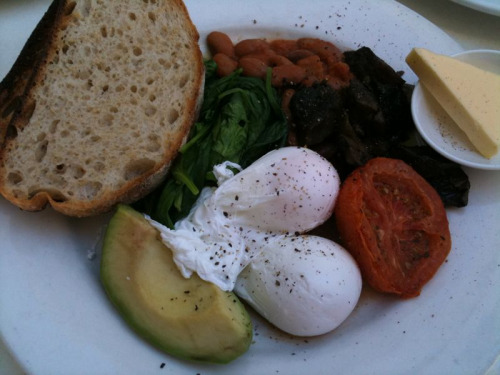 Big breakfast at Lumière at St Margarets, Surry Hills. Bacon swapped for avo. All my vegie serves for the day