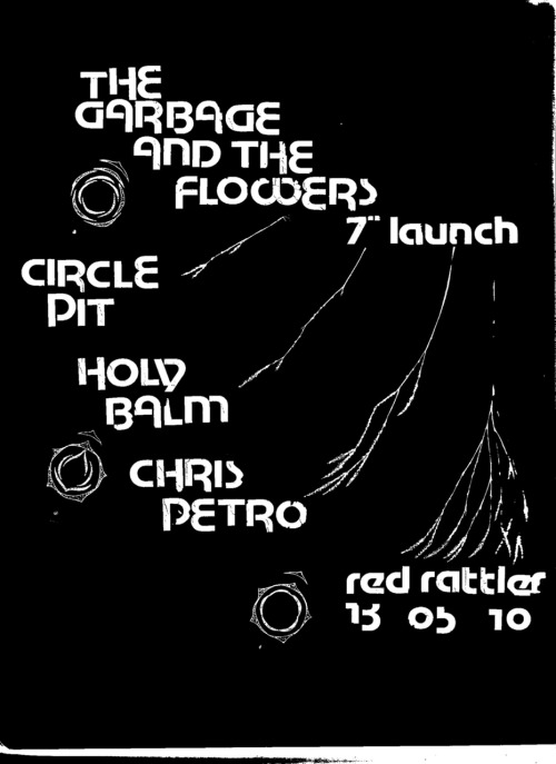WE ARE PLAYING IN SYDNEY THIS THURSDAY WITH THE GARBAGE AND THE FLOWERS, ONE OF MY ALL TIME-FAVOURITE AUSTRALIAN BANDS. THEY WILL BE LAUNCHING THEIR NEW SINGLE ON SKULL TONES, CALLED 'ALAMO ROSE'.