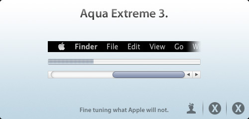 Aqua Extreme 3 theme for Mac OS X 10.5 & 10.6 by Max Rudberg. Sweet Max is back! And with a theme I actually want to use with Snow Leopard!