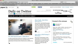 I love this site! - it takes any Twitter feed and turns it into a newspaper.  http://paper.li