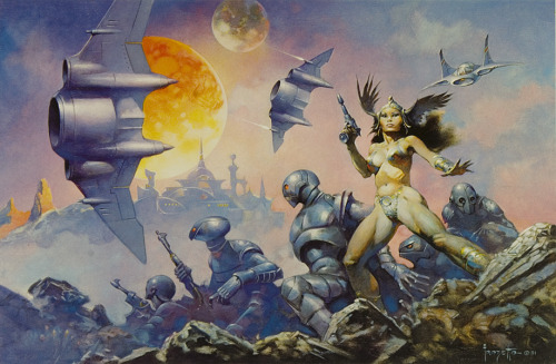 r2witco:  Frank Frazetta 1928-2010  Brilliant.