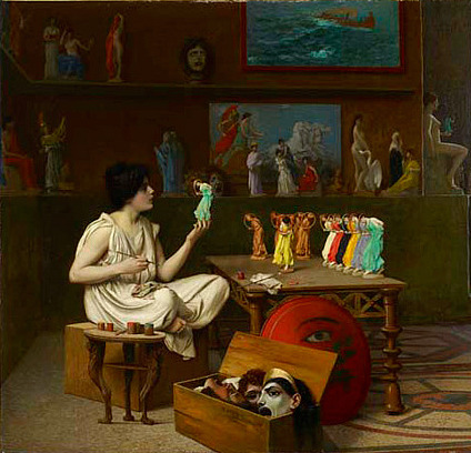 Jean-Leon Gerome The Antique Pottery Painter (detail) 1893