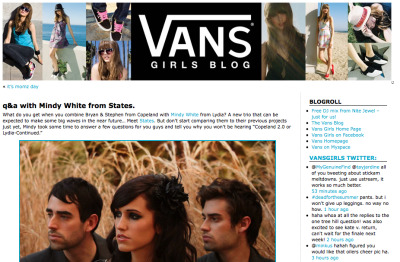 Did an interview with VANS today. check it out http://ht.ly/1JlH9 also if you have no clue who STATES are:  http://www.statesmusic.com & twitter @statesmusic