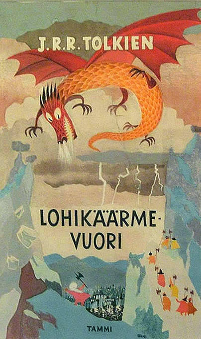 childrensbooks:bookcoverdesign:  « pixelpaper » design: Tove Jansson Lohikäärmevuori (The Hobbit)  by J.R.R. Tolkien