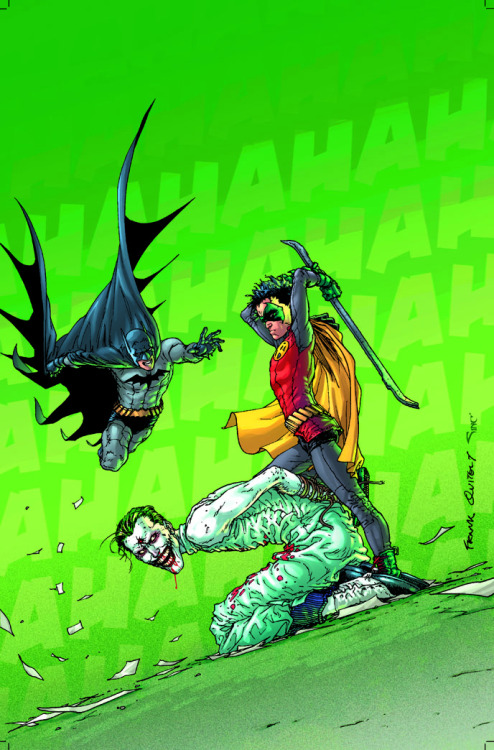 Yes, yes, yes! A million times YES! Frank Quitely's cover to BATMAN AND ROBIN #13, revealed at last. Simply amazing…
