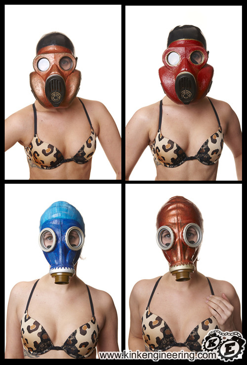 Finally got the Fashion Gas-Masks on the web store.  We make them in a BUNCH of colors and sizes, and we can do custom work too. :)