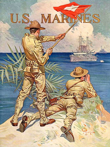 """Enlist Today, U.S. Marines"" (1918). J.C.Leyendecker"