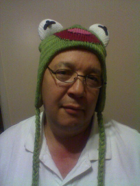 Yeah, it's cool dad: just put on my favorite Kermit hat out of nowhere. Get your sweaty Dominican scalp all in it. Just wait until tomorrow. I'm gonna do some weird stuff to your poorboy cap. I mean really weird.