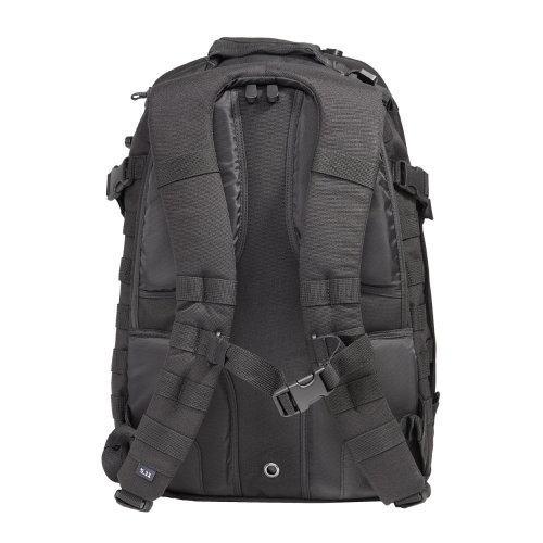 5.11 Tactical RUSH 24 Neoprene Padded Backing and Yoke System Straps Editor's Note: I just reviewed that Urban Operator pack today and I already can tell it isn't for me. I absolutely cannot sacrifice comfort and ergonomics if I'm going to be EDCing a heavy load all day. I've come to grips with the fact that out of aesthetics, function, and comfort, I can really only choose two (at an affordable pricepoint). Coincidentally, I reviewed the bag on May 11th, or 5/11. It turns out that the bag I wanted to replace it with as per Alex's suggestion, the RUSH24, is made by 5.11 Tactical… and yeah, LA Police Gear has a one-day sale on that bag. 20% off, free UPS ground shipping and a free LAPG water bottle. It seemed like the universe was trying to tell me to do my spine a favor and buy that bag. So now look forward to another review when the RUSH24 comes. For even less than I paid for the TacticalTailor bag, I'll have better comfort, better organization, more attachment points, compression straps, etc. The extensive MOLLE webbing is unsightly and might attract the wrong attention, but other than that, hopefully it will be perfect… The problem with trying to buy EDC gear is that you can never really tell if it's going to work out for you without carrying it for a while. It's a little frustrating.