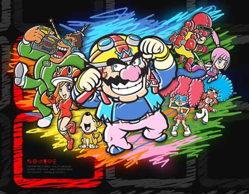 Promo art for WarioWare: Touched!