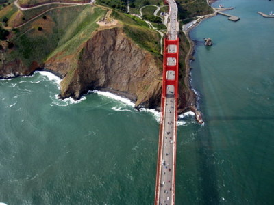 megpickard: Though to be fair, this view of the Golden Gate Bridge was fairly mindblowing too: Anna's birthday present was a flight over San Francisco in a seaplane. It was amazing!