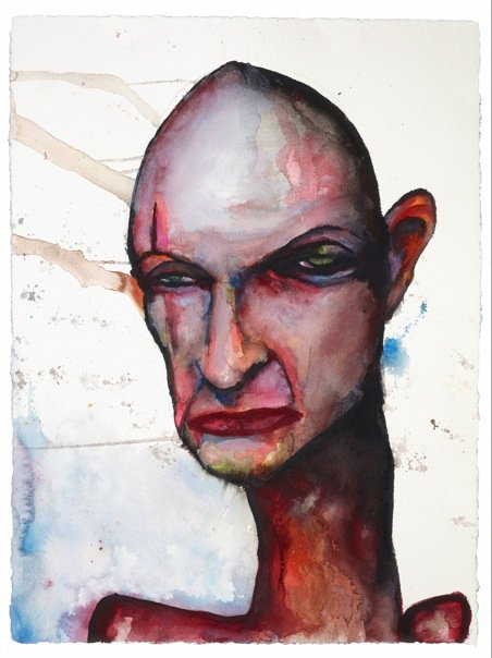 jaycerxsiempre:  John Locke. Por Marilyn Manson. Eso es todo. popculturebrain: Facebook | Marilyn Manson's Photos - Wall Photos Marilyn Manson painted this photo of John Locke, because why not? (found via Vulture)
