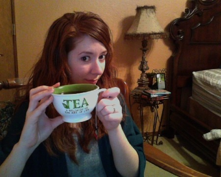 I've been drinking a lot of tea lately… -Lici
