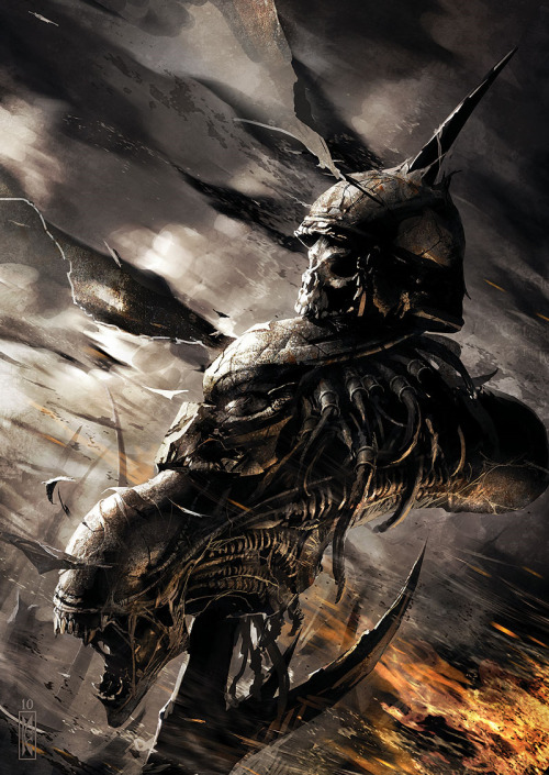 justinrampage:  It's an alien insect!  THREE WORLD WAR #6 by Raymond Swanland  Holy crap!LOOKS LIKE THE HUMANS, PREDATORS AND XENOMORPHS ARE GONNA HAVE TO TEAM UP AGAINST THESE INSECT BASTAGES