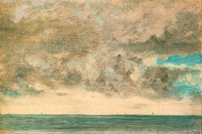 themagiclantern:  themetropolitanline:  John Constable - Study of Clouds over the Sea, Brighton (1822)