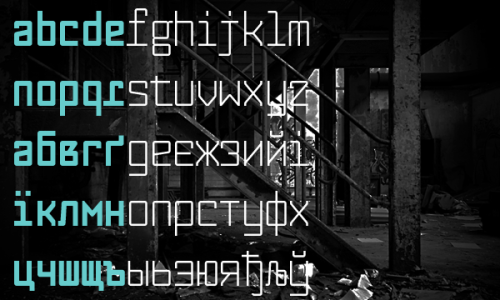 Sergiy Tkachenko, Fabryka (2010) these fonts remind me of duo typeface projects we have done in class. looks like two tyeface combeined because of the contrast between weight of strokes. makiko
