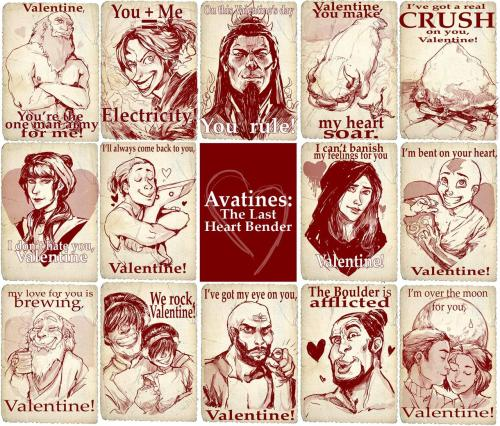 poupon:  Avatar-themed valentines from 2 years ago