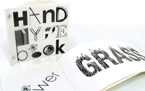 Ilana Bandarovsky,Hand type book(2010) HAND TYPE BOOK 24 words; 24 hand-drawn typographic solutions. makiko