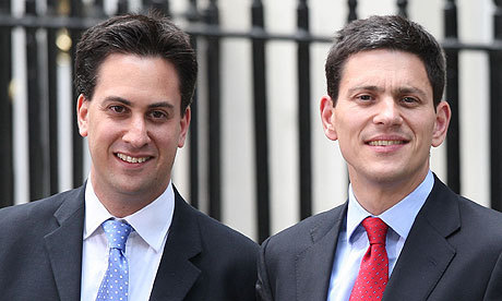 Why do the Milibands, who are both unsurprisingly, and uninspiringly, running for the Labour leadership, both have wonky faces? Genetics is the obvious answer, but look closely and you'll see that they wonk in different directions.