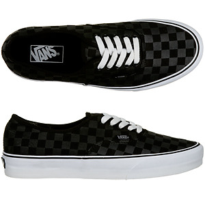 So I went out the other day and got this Vans Black Checkerboard Authentic. They're really nice and in different colors. Easy to match with jeans too. I'm a shoe person. Gotta love my kicks! (Supra, Vans, DC, Zoo York, Nike) <3 But since I have very small feet (I wear women's 6, but I can fit in women's 5[but my feet can't breathe]. and when I wear boy's shoes I get MEN'S size 5, it's the most that fits me right with allowance), it's hard to get a size since I wear boy's shoes. So I get them ordered instead! Patience to get the package though. Yes, I am straight but one of the boys. :-bd :-)