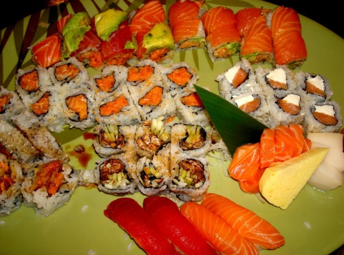 All-you-can-eat sushi made to order. who doesn't love that? A medley of raw salmon, tuna, white tuna, and grilled salmon skin. Sashimi is one of my favorite things to eat. It is so unbelievably good. Sushi Palace. Edison. NJ