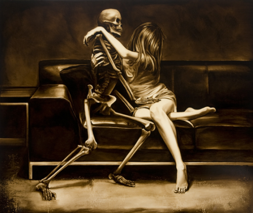 Death and the Maiden by Edward Walton Wilcox, oil on panel, 2008