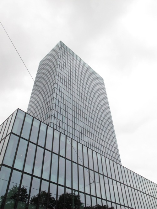 Tallest building in Switzerland, the Basler Messeturm 105 m.