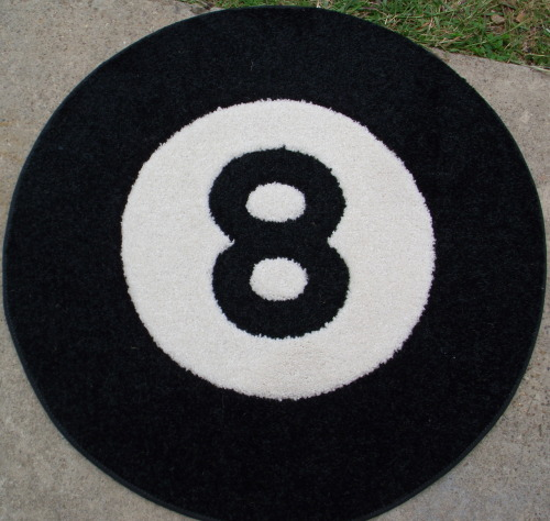 A cool rug for a pool player.
