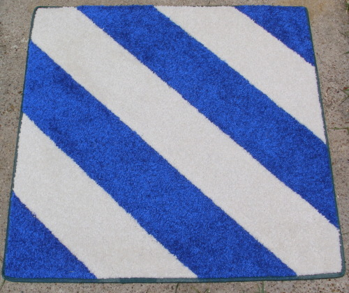 A 3rd Infantry Division patch rug.
