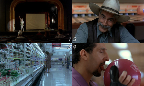 "1 movie - 4 frames. ""The Big Lebowski"": 3-4-1-2"