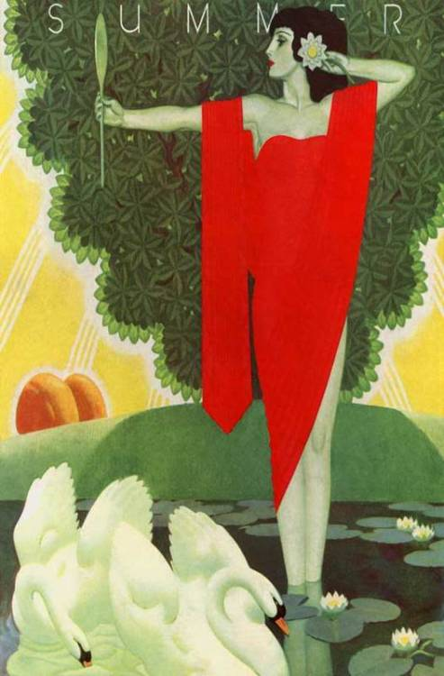 "alabaster1:  fuckyeahartdeco:  ""Summer"" (1931) by William Welsh (via bygonefashion)   (via)"