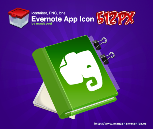 Un icono alternativo para el gestor de notas Evernote
