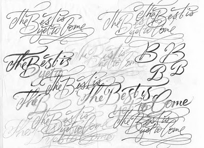 The Best is Yet to Come (The Art of Hand Lettering)  A wonderful blog dedicated to hand-lettering, with many images from Alan Ariail's (the artist) process.