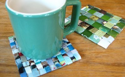 lisawaddell:  Recycled Magazine Coasters Tutorial  I might have to try this tonight!