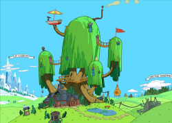 "aergonaut:  adventuretime: ""Witch's Garden"" Background: From Pendleton Ward's Adventure Time. Ghostshrimp and Santino Lascano were the episode's background designers. Martin Ansolabehere and Sandra Calleros were the painters. Nick Jennings is the art director, and Pat McHale is the creative director.  My new desktop background.  (via adventuretime)"