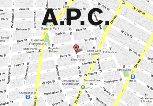 A.P.C. plans to open in New York at the corner of West 4th and Perry Street. VERITAS: HIGHSNOBIETY