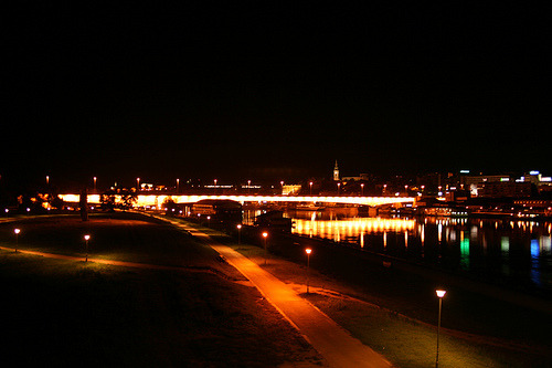 Reka Sava noću (Sava River at night) by Tijana Danilović