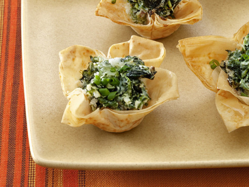 Spinach and Goat Cheese Tartlets I will be making these when I get my life back…
