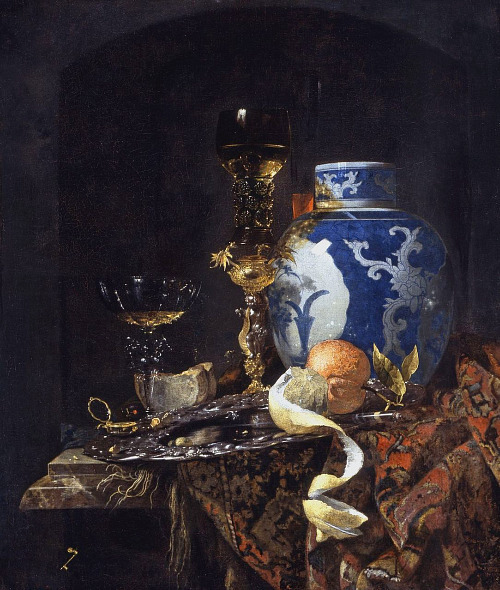 Willem Kalf Still Life with a Late Ming Ginger Jar 1669