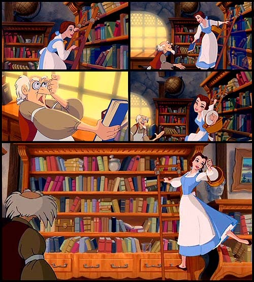 libraryland:  itsprobablyme:  Beauty and the Beast <3