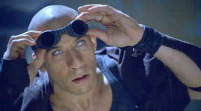 Jack: Where the hell can I get eyes like that?  Riddick: Gotta kill a few people.  Jack: 'Kay, I can do it.  Riddick: Then you got to get sent to a slam, where they tell you you'll never see  daylight again. You dig up a doctor, and you pay him 20 menthol Kools  to do a surgical shine job on your eyeballs.  Jack: So you can see who's sneaking up on you in the dark?  Riddick: Exactly.