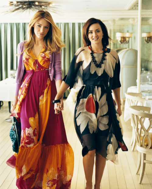 fashionovereasy:bohemea:   Blake Lively & Leighton Meester by Norman Jean Roy