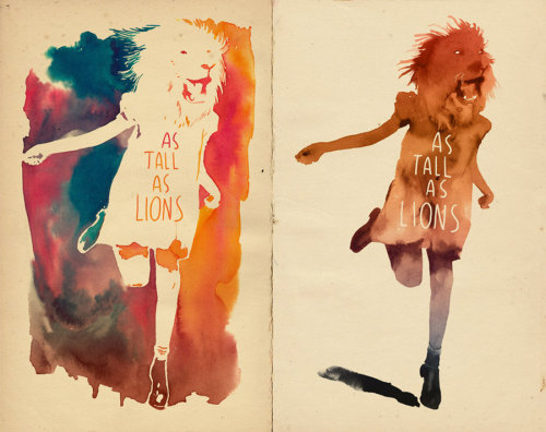 awesome watercolour! As tall as lions by ~mathiole on deviantART
