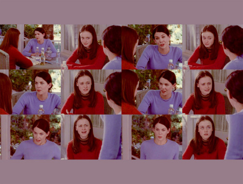 Lorelai: It's my favorite sweater too.Rory: Since when?Lorelai: Since always.Rory: This is not your favorite sweater.Lorelai: Yes it is and now it's going to be all stretched out just like everything else you borrow.Rory: What are you talking about?Lorelai: I'm talking about that you take my sweaters and you wear them and you stretch them out.Rory: I couldn't possibly stretch them out! Your boobs are way bigger than mine.Lorelai: That is not true.Rory: Yes it is.Lorelai: Your boobs are totally bigger than mine!Rory: You're crazy!Lorelai: Do you want to measure?Rory: What?Lorelai: I'm serious. Why don't you get the measuring tape right now?Rory: I am not going to measure my boobs.Lorelai: Because you know that you are totally bigger.Rory: I'm going inside. Lorelai: Fine, don't measure. We'll just compare bras.Rory: Stop it!(Kill Me Now, 1x03)